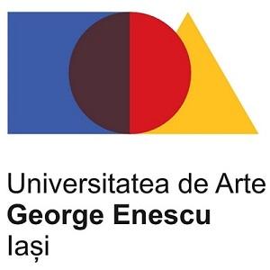 """Logo Universitatea Națională de Arte """"George Enescu"""" din Iași"""